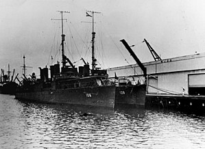 USS Chew (DD-106) and USS Ward (DD-139) at the Hilo Sugar Docks on 22 July 1941 (NH 80393)
