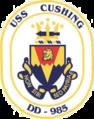 USS Cushing (DD-985) crest.png