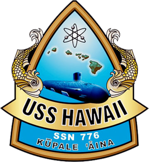 USS Hawaii (SSN-776) - Image: USS Hawaii SSN 776 Crest