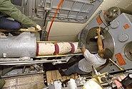 USS Iowa (BB-61) ramming powder bags