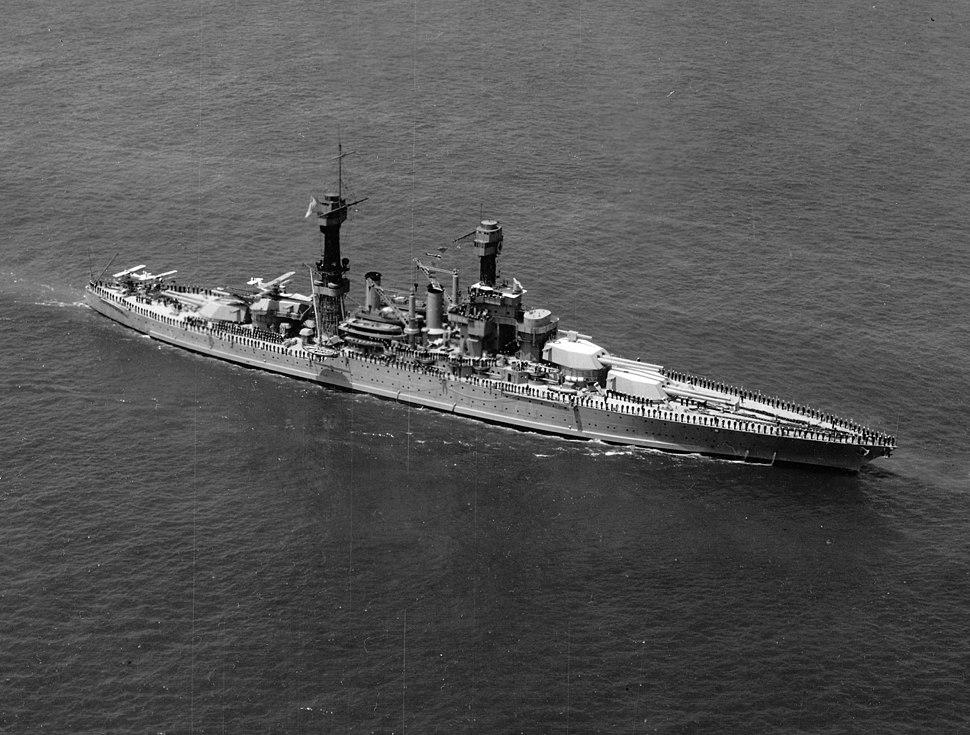 USS Maryland at 1927 naval review NARA 19-LC-19C