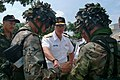 US Navy 020705-N-0021M-006 Republic of Singapore Mine Clearance Disposal Team explain to Rear Admiral Jeff Cassias, Commander of Logistics Group Western Pacific.jpg