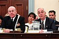 US Navy 050310-N-2568S-003 Chief of Naval Operations Adm. Vern Clark and Secretary of the Navy Gordon England testify to members of the House Appropriations Committee.jpg