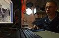 US Navy 060113-N-0685C-001 Aerographer's Mate 3rd Class Ivan Graudszus of Fredericksburg, VA updates Enhanced Infra-red (IR) Images from the satellite loop aboard the Nimitz-class aircraft carrier USS Theodore Roosevelt (CVN 71.jpg