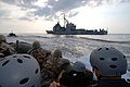 US Navy 070624-N-0841E-143 Members assigned to the visit, board, search and seizure (VBSS) team on board guided-missile cruiser USS Vicksburg (CG 69) take part in a boarding exercise.jpg