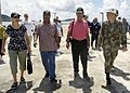 US Navy 080825-N-0209M-009 The Honorable Manny Mori, left, The Honorable Miriam K. Hughes,The Honorable Governor of the Federated States of Micronesia Wesley Simina, and EOC James Brock walk together during a tour of an Enginee.jpg