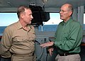 US Navy 081120-N-8822R-003 CBS News anchor Harry Smith converses with RADM Frank Pandolfe.jpg