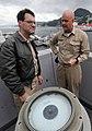 US Navy 090708-N-0807W-492 Vice Adm. John M. Bird, Commander, U.S. 7th Fleet, tours the San Antonio-class amphibious transport dock ship USS New Orleans (LPD 18) during a scheduled port visit.jpg