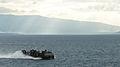 US Navy 100201-N-1831S-091 landing craft air cushion (LCAC), assigned to Assault Craft Unit (ACU) 4, transits near Baie De Grand Goave, Haiti as it returns to the amphibious assault ship USS Bataan (LHD 5).jpg
