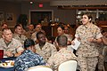 US Navy 100929-M-2051C-007 Rear Adm. Margaret G. Kibben, deputy chief of Navy Chaplains and 18th chaplain of the U.S. Marine Corps, speaks to a gro.jpg