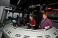 US Navy 110209-N-IK959-013 Attendees of the 2011 Training Magazine Conference and Expo take turns on a littoral combat ship (LCS) simulator at the.jpg