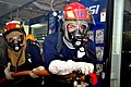 US Navy 110507-N-4004D-027 Machinist's Mate Fireman Anthony Cantu, right, and Machinist's Mate Fireman Nicodemus Toler engage a simulated fire on t.jpg