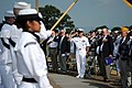 US Navy 110613-N-AD372-418 Master Chief Petty Officer of the Navy (MCPON) Rick D. West salutes the Asmerican flag at a wreath laying ceremony at Ch.jpg