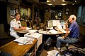 US Navy 110829-N-YM440-001 Jim Scott interviews Vice Adm. Dirk Debbink, Chief of Navy Reserve, on the WLW Early Morning Show on AM 700 during Cinci.jpg