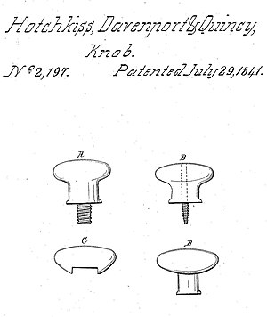 Hotchkiss v. Greenwood - The patented doorknob – from U.S. Pat. No. 2197