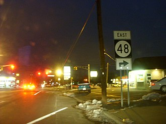 U.S. Route 130 - Route 130 at Route 48 in Penns Grove