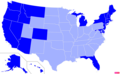 US states by non-Christian population.png