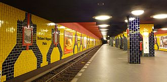 Richard-Wagner-Platz (Berlin U-Bahn) - Platform of the station