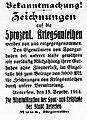 Uetersen Bekanntmachung Kriegsanleihe 1914.jpg