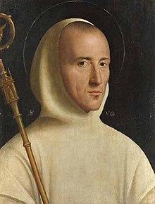 Ismeretlen itáliai festőː Grenoble-i Szent Hugó (1525 körül, London National Gallery)