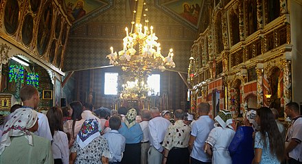 The interior of Greek Catholic Church in Spas, Ukraine Ukrainian Greek Catholic Church in Spas, Ukraine.jpg