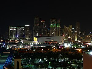 Museum Park (Miami) - Museum Park during Ultra Music Festival and Earth Hour, on 27 March 2010.