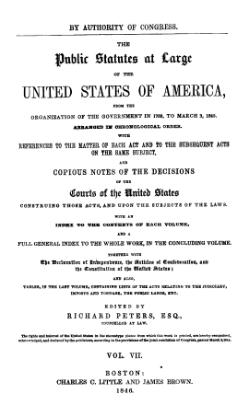 United States Statutes at Large Volume 7.djvu