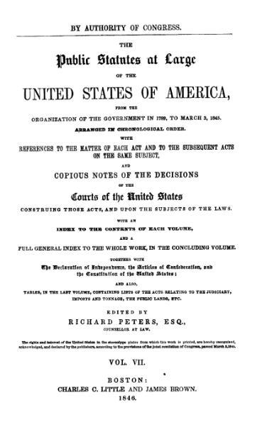 File:United States Statutes at Large Volume 7.djvu