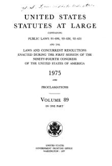 United States Statutes at Large Volume 89.djvu