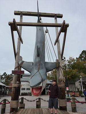 Jaws (ride) - Image: Universal Studios Jaws Shark Closeup