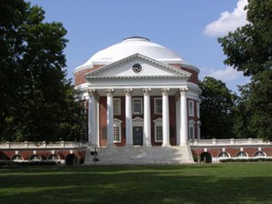 Die Rotunda der Universität Virginia, entworfen von Thomas Jefferson