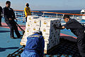 Unloading relief supplies on Carnival Splendor 2010-11-09 1.jpg