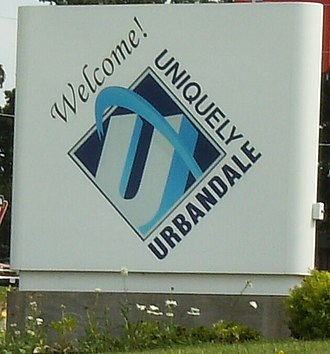 Urbandale, Iowa - Urbandale welcome sign