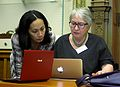 Uta Firth and Katie Chan at the Wikimedia UK Ada Lovelace Day.JPG