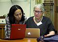 Uta Firth and Katie Chan at the Wikimedia UK Ada Lovelace Day.JPG