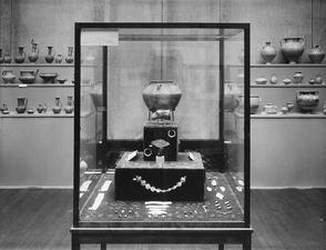 Utställning på Liljevalchs Konsthall 1933. Mersinaki rummet. Stockholm. utställning. Sverige - SMVK - C06241.tif