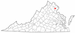 State map highlighting City of Manassas