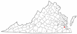 Location of Rushmere, Virginia