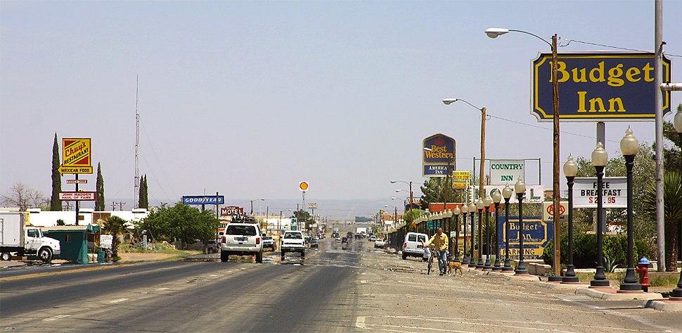 The main road through Van Horn