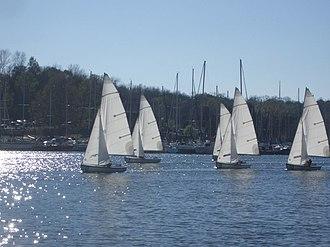 Percy Priest Lake - Vanderbilt Sailing Club enjoying Percy Priest Lake