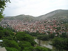 The town of Veles in North Macedonia