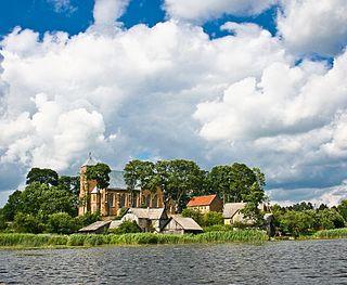 Vepriai Place in Aukštaitija, Lithuania