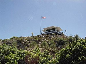 Fire lookout tower - Angeles National Forest, Vetter Mountain fire lookout tower near Los Angeles, California.