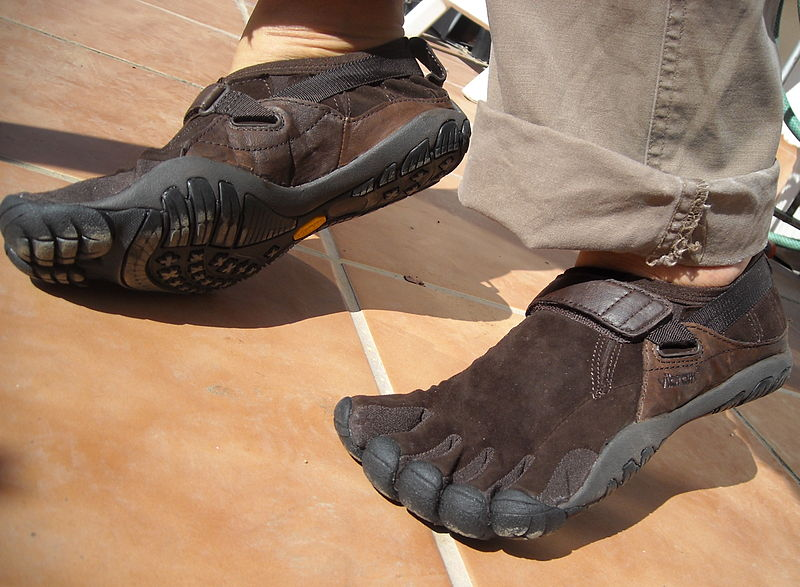 Brown Hiking Shoes With Basketball Shoes On Men