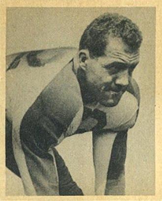 Vic Lindskog - Lindskog on a 1948 Bowman football card