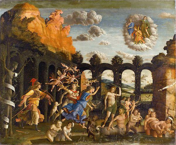 Minerva che scaccia i Vizi dal giardino delle Virtù