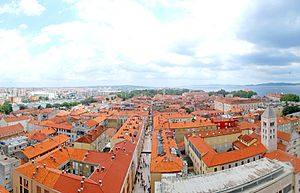 Zadar - Image: View from Bell Tower, Zadar, Croatia