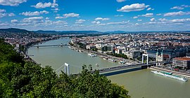 View from Gellért Hill to the Danube, Hungary - Budapest (28493220635).jpg