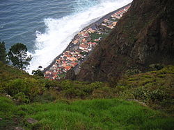 The narrow band of Paúl do Mar, along the southwest corner of the island of Madeira