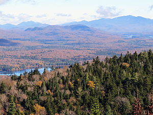 Owls Head Mountain - The View from Owls Head Mountain fire tower